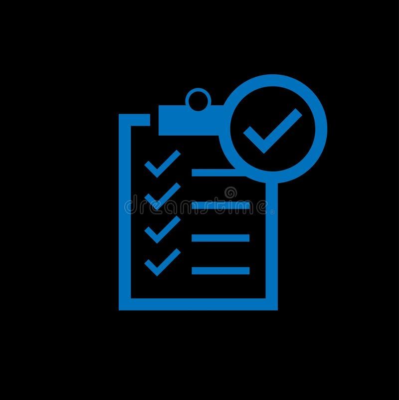 Listy kontrolnej ikona - wektorowa ilustracja ilustracji