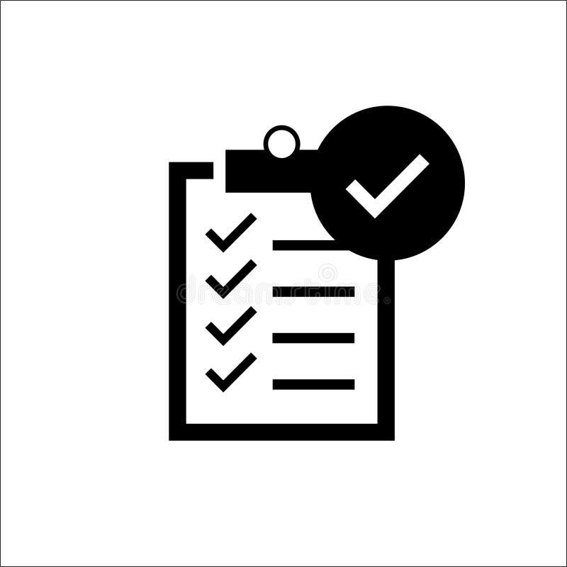 Listy kontrolnej ikona - wektorowa ilustracja ilustracja wektor