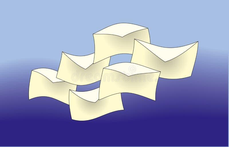 listy latać ilustracja wektor