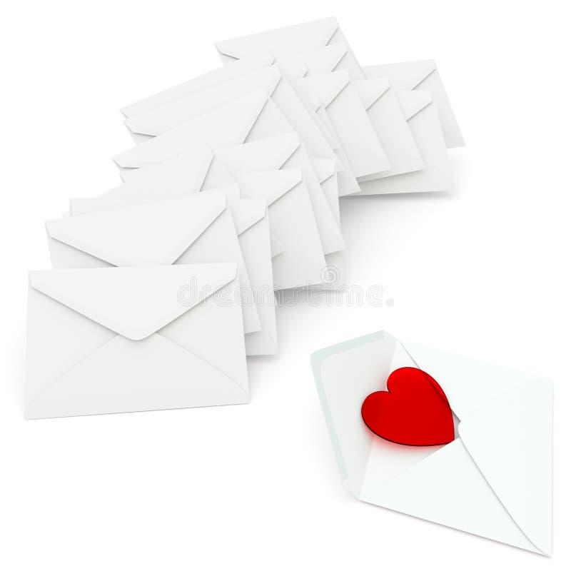 Download Listy Miłosny ilustracji. Ilustracja złożonej z otwarty - 28963370