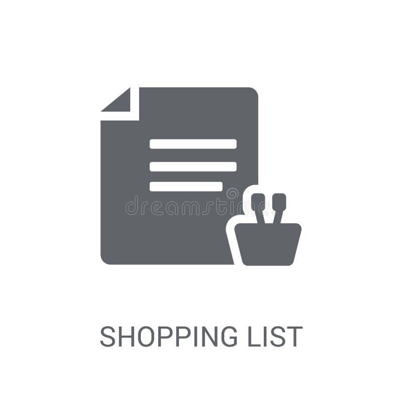 Listy zakupów ikona  ilustracja wektor