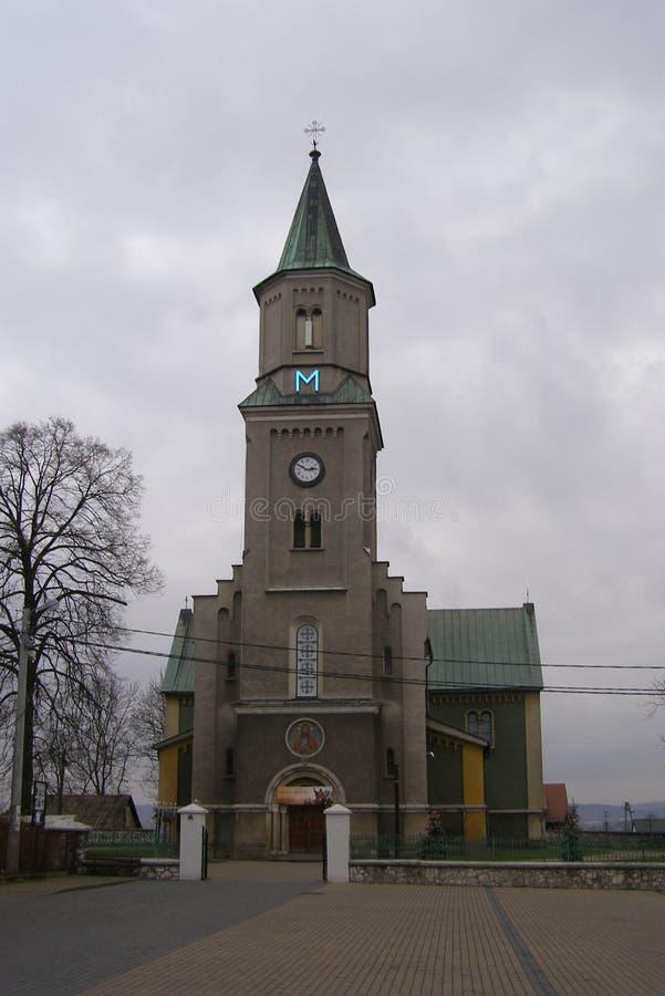 Liszki,村庄在克拉科夫县,小波兰省新罗马式教会 图库摄影