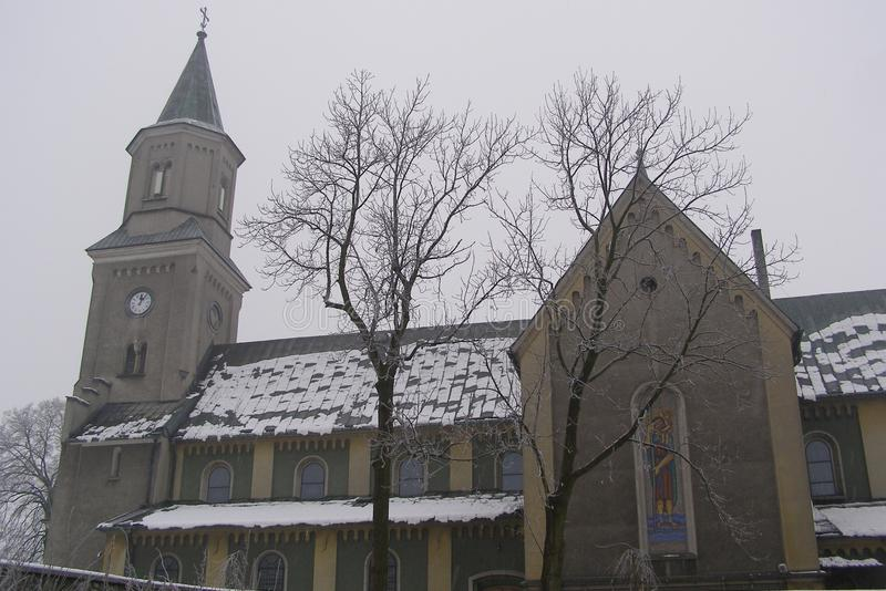 Liszki,村庄在克拉科夫县,小波兰省新罗马式教会 免版税库存照片
