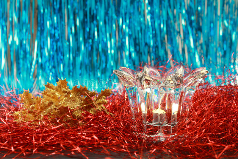 Download Lit Candle In A Transparent Glass Candlestick Stock Image - Image: 22544567