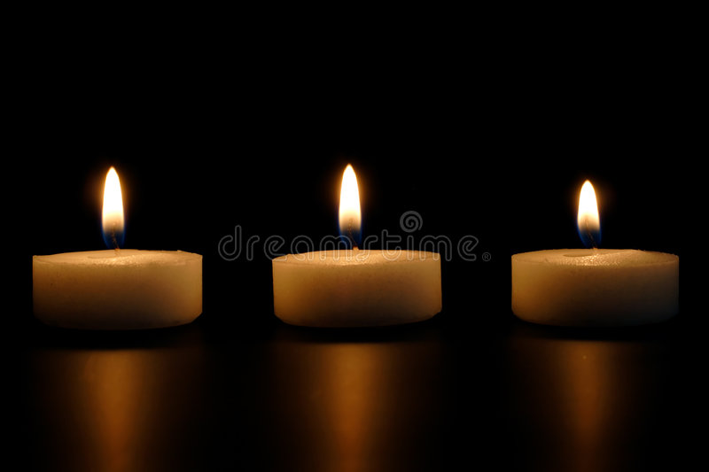 Lit Candles Stock Photography