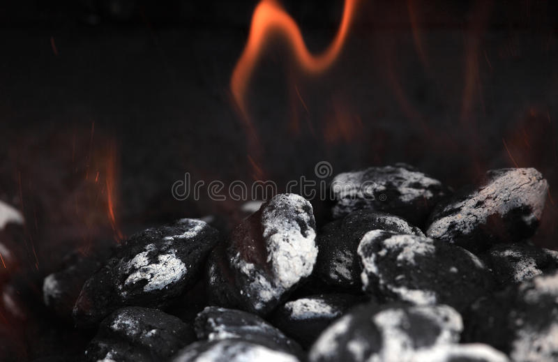 Download Lit Charcoal stock image. Image of charcoal, flame, combustion - 14139945