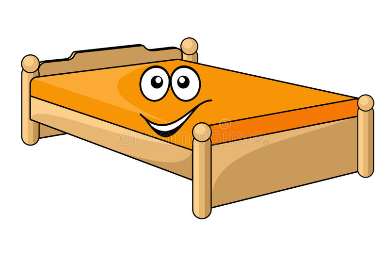 lit confortable de bande dessin e illustration de vecteur. Black Bedroom Furniture Sets. Home Design Ideas
