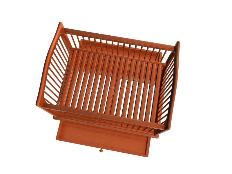 Lit de bébé, tiroir Open_Raster de vue supérieure illustration de vecteur