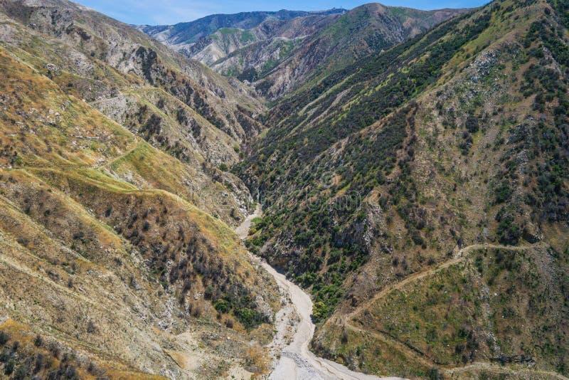 Lit de crique en canyon de la Californie image stock