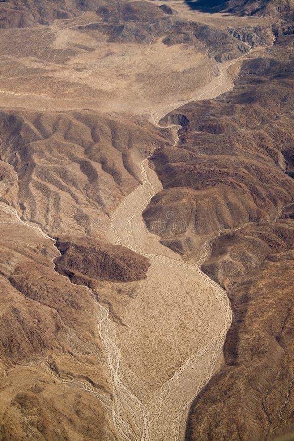 Lit de la rivière sec image libre de droits