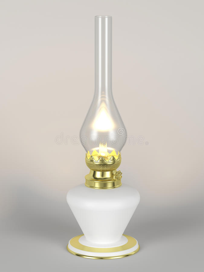 Download The lit desk oil lamp stock image. Image of light, wick - 40364143