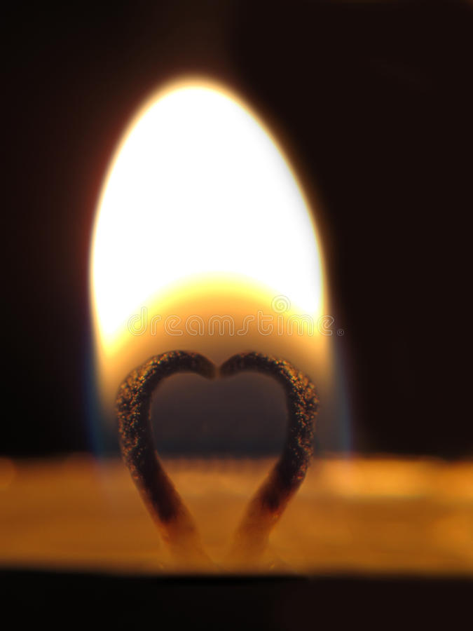 Download Lit fuse with heart-shaped stock photo. Image of wick - 19029448