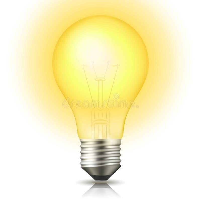 Lit-Glühlampe stock abbildung