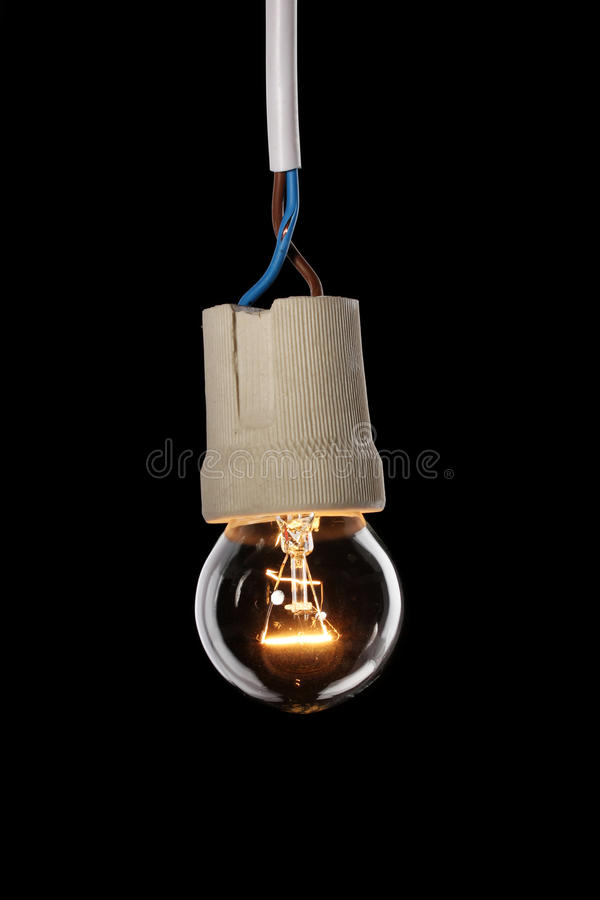 A Lit Light Bulb Royalty Free Stock Images