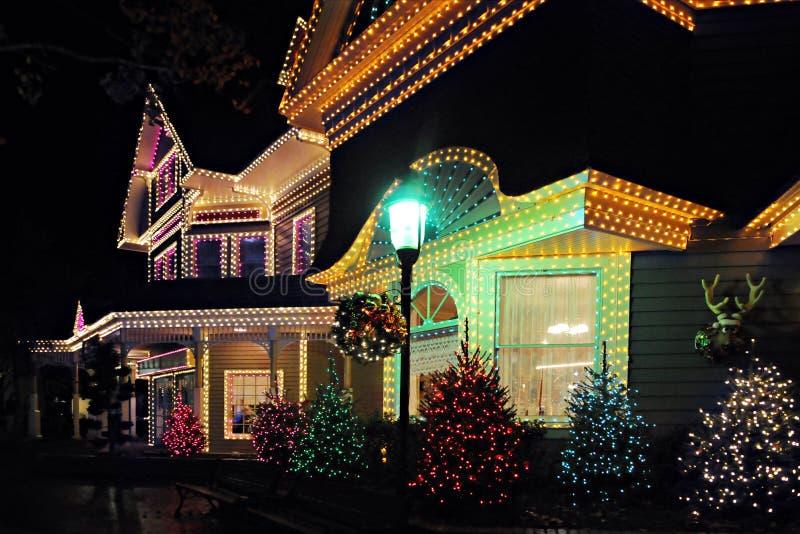 Lit oben für Weihnachten stockbilder