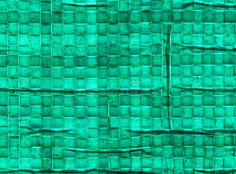 Woven polypropylene recycling sack, close up. Macro of garden refuse sack, made from woven polypropylene royalty free stock photos