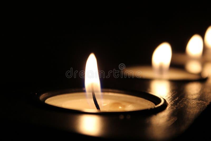 Lit Tea Candles Free Public Domain Cc0 Image