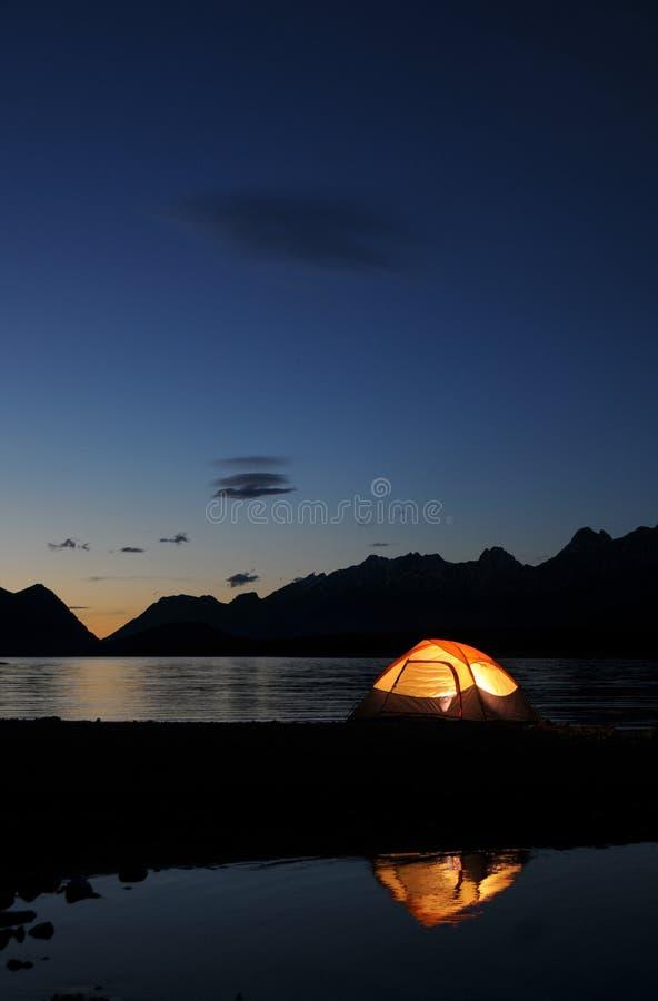 Free Lit Tent Royalty Free Stock Photos - 5829238
