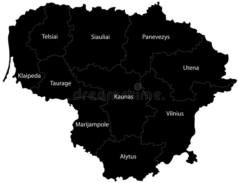 Litauen vektor abbildung