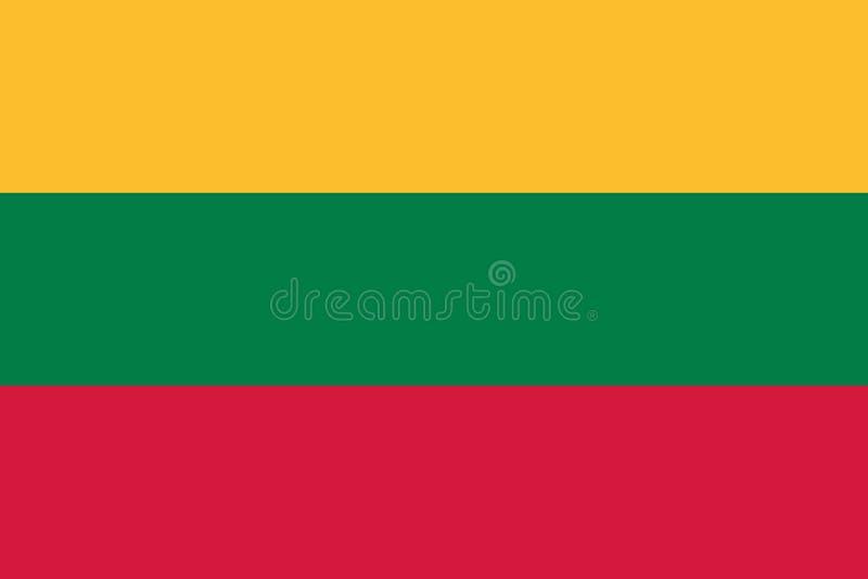 Litauen flaggavektor stock illustrationer