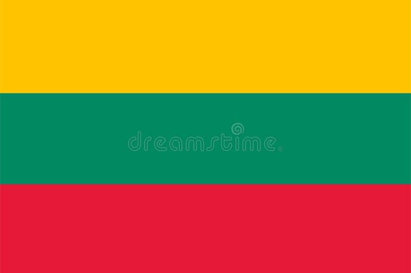 Litauen flaggavektor Illustration av den Litauen flaggan vektor illustrationer
