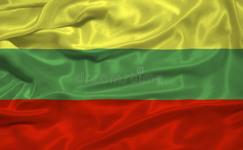 Litauen-Markierungsfahne 3 stock abbildung