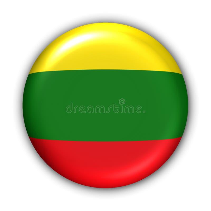 Litauen-Markierungsfahne vektor abbildung