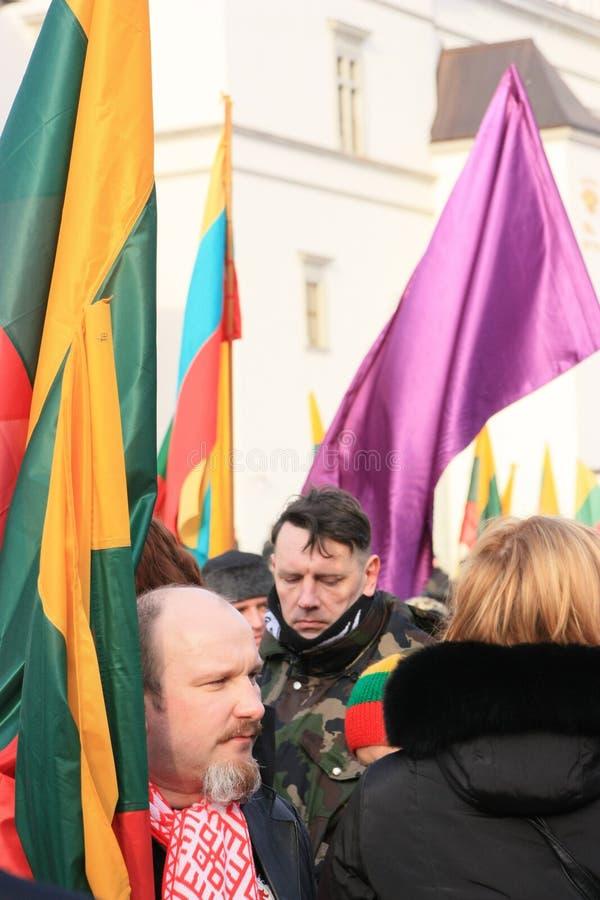 Litauen 11 mars arkivbilder