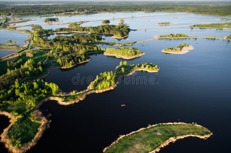 Litauen von oben stockfotos