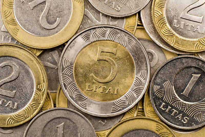 Litauische Bargeld litas stockfotografie