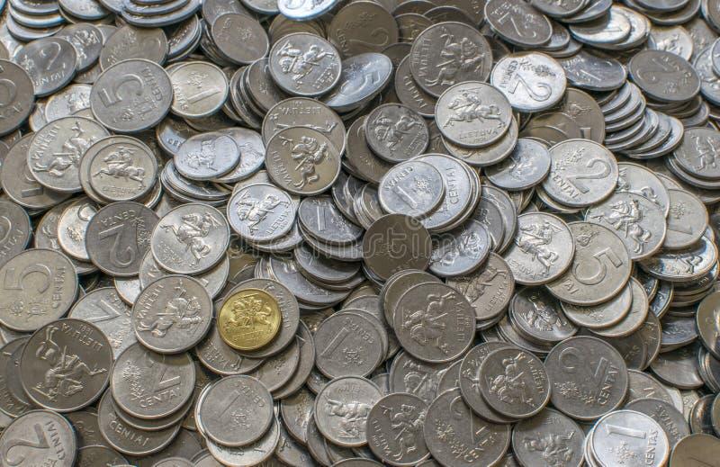Litauische litas Cents lizenzfreie stockfotografie
