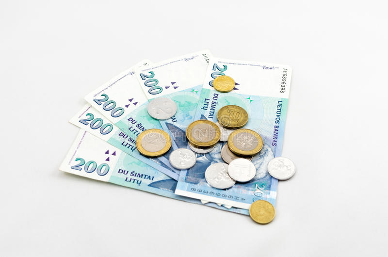 Litauische Währung lizenzfreie stockbilder