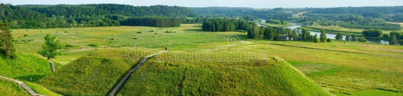 Litauiska historiska huvudKernave fotografering för bildbyråer