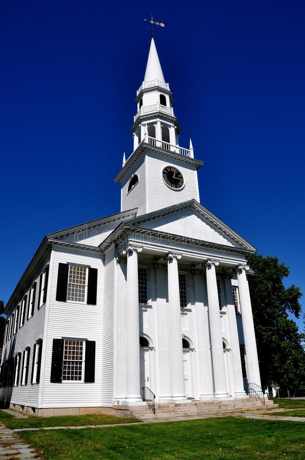 Litchfield, CT: 1829 First Congregational Church. Litchfield, Connecticut: 1829 First Congregational Church built in the Greek Revival style is the third royalty free stock images