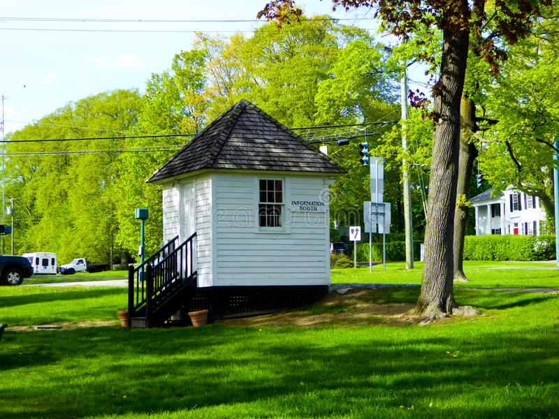 Litchfield information booth. Building in u.s stock photo