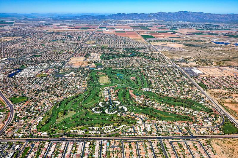 Litchfield Park, Arizona Aerial View royalty free stock image