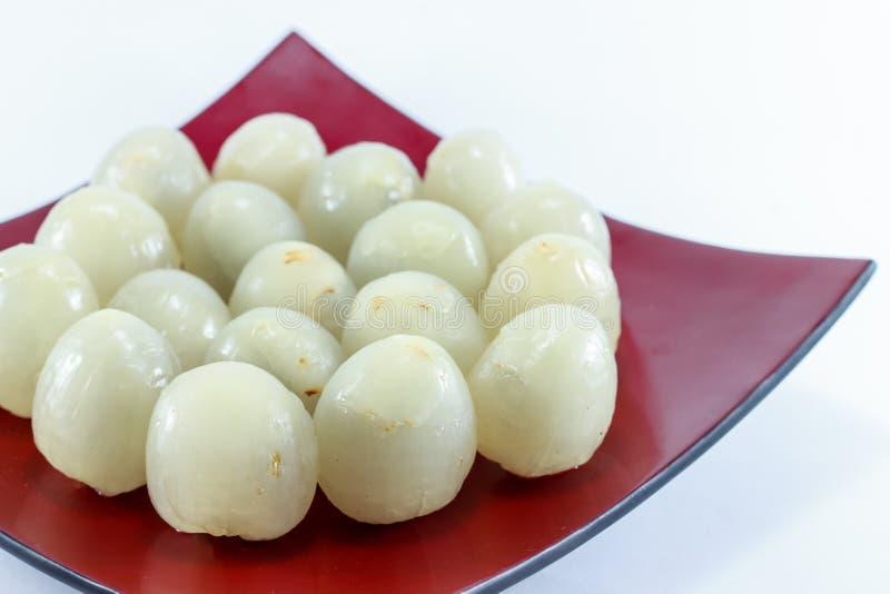 Litchiplommon nya lychees arkivfoto