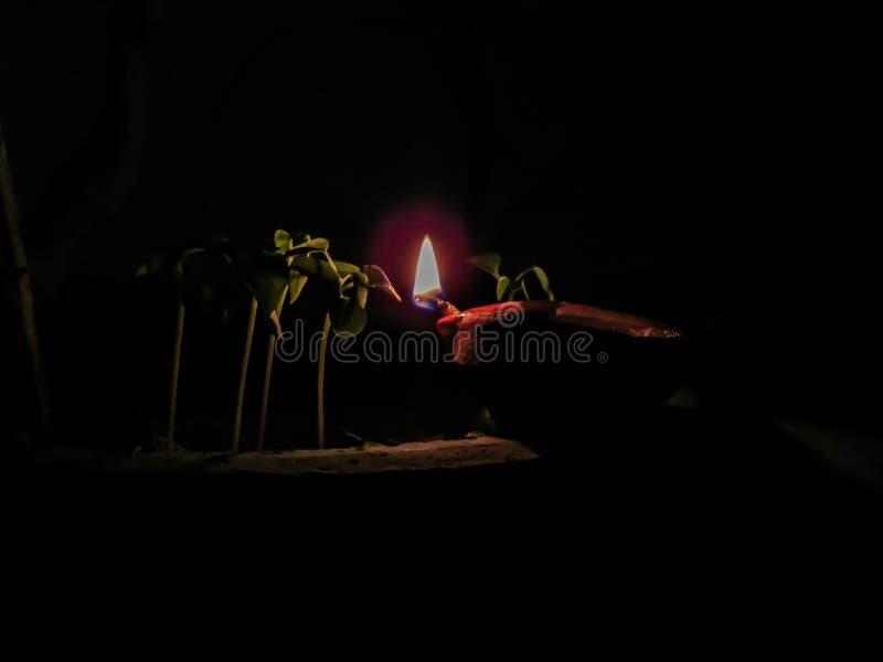 Litdiyalampa Leradiya traditionell diwalifestival royaltyfri bild