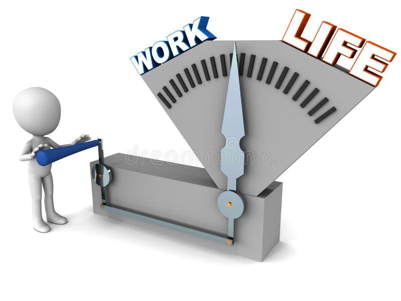 Arbetsliv balanserar stock illustrationer