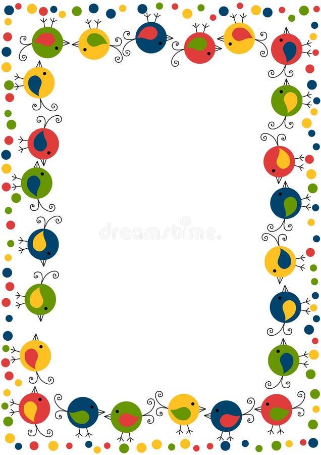 Lite inramar fågelungefåglar vektor illustrationer