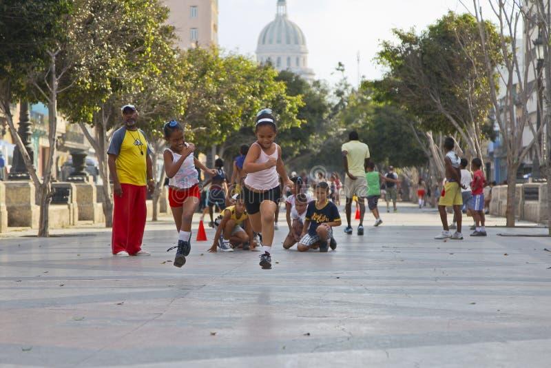 Lite löpare, Havana arkivbilder