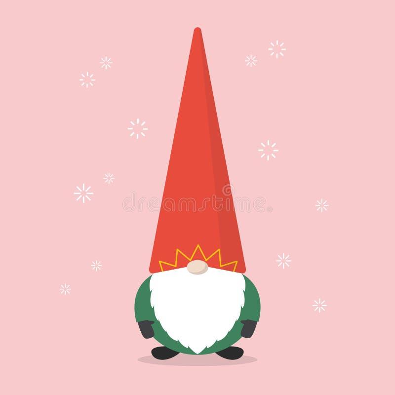 Lite Santa Claus vektor illustrationer