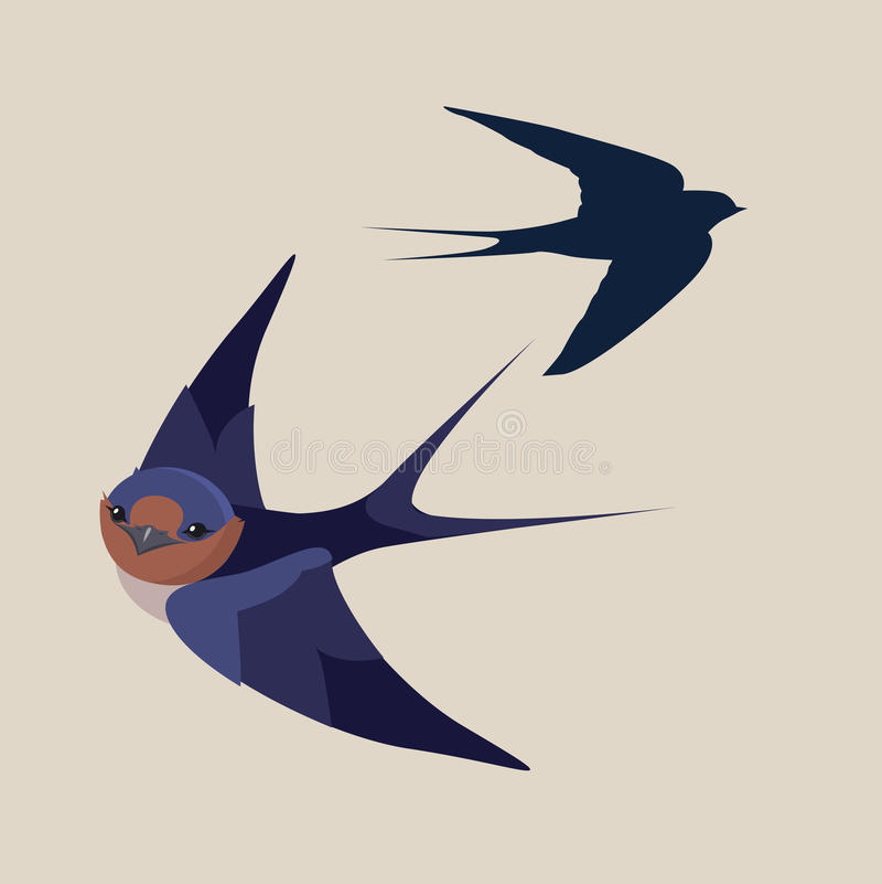 Svalafågel royaltyfri illustrationer