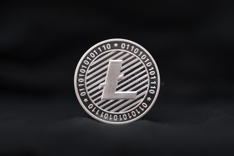 Litecoin badania lekarskiego monety symbol zdjęcia royalty free