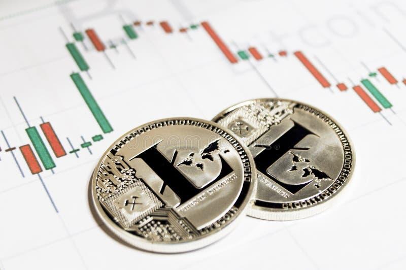 Litecoin es una manera moderna de intercambio y de esta moneda crypto foto de archivo libre de regalías