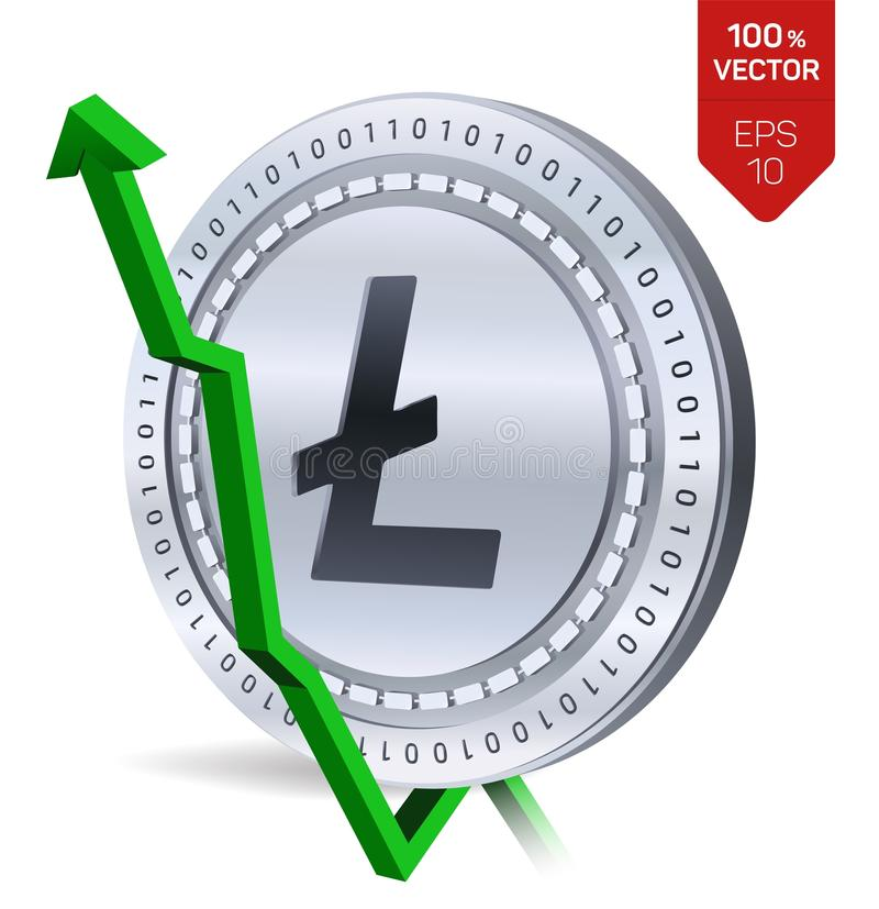 Litecoin Growth Green Arrow Up Litecoin Index Rating Go Up On
