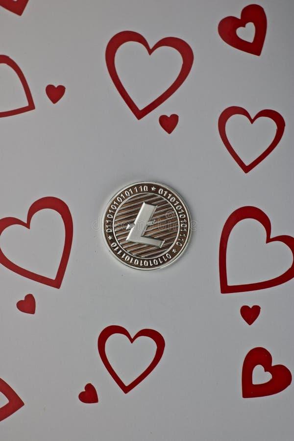 Litecoin miłości moneta obrazy stock