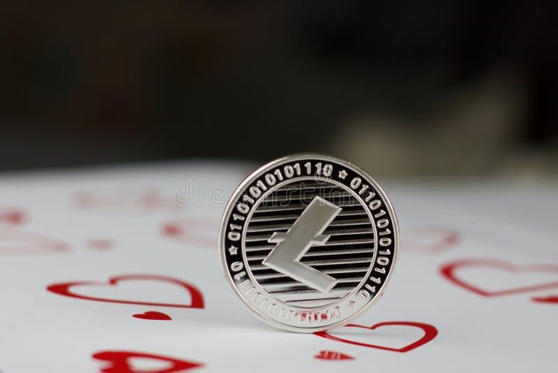 Litecoin miłości moneta zdjęcie stock