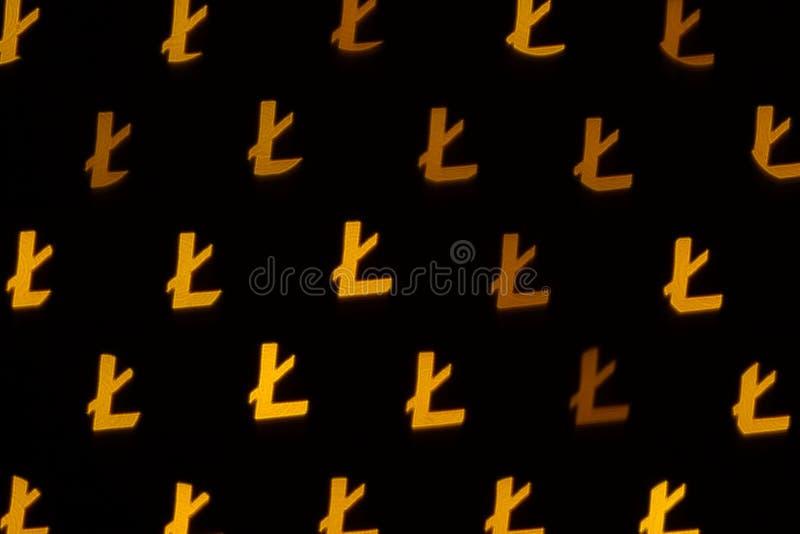 Litecoincryptocurrency, abstracte achtergrond royalty-vrije stock afbeelding