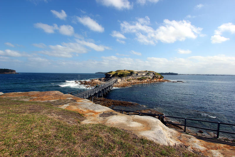 Liten ö på laperouse, östliga Sydney royaltyfri fotografi